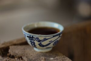 Liu Bao in Antique Qing teacup Tea Adventures
